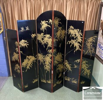 7753-1 - Painted 6 Panel Asian Fold Screen