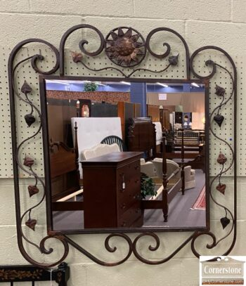 7755-3 - Deer Park Craftwks Hand Frgd Mirror