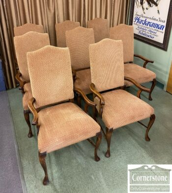 7760-1 - Set of 8 Upholstered Arm Chairs