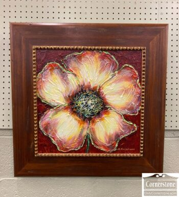 7760-11 - Pair Flower Painting by Pritchard