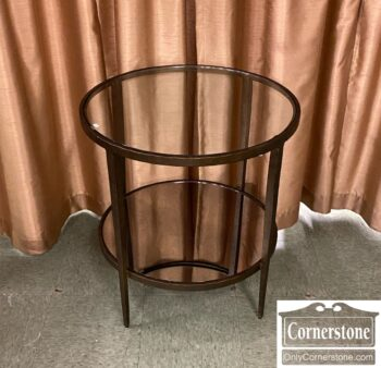 7765-3 - Large Round Metal Glass Occ Table