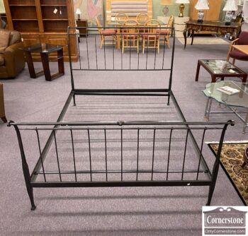 7772-3 - Crate and Barrel Queen Iron Bed