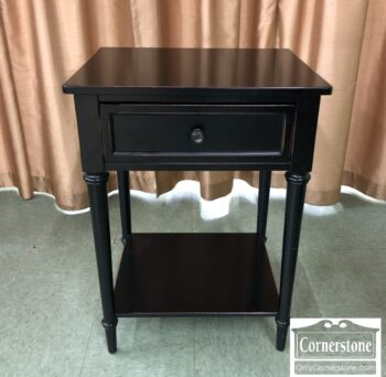 7772-4- Black Contemporary 1 Drawer End Table