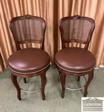 7778-4 - Pr French Style Counter Stools