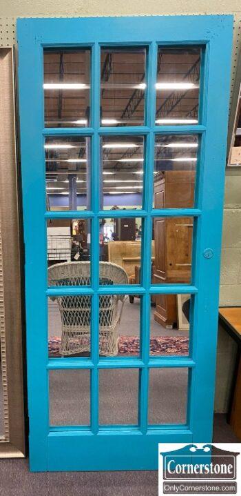 7783-2 - Blue Door with Mirror Back