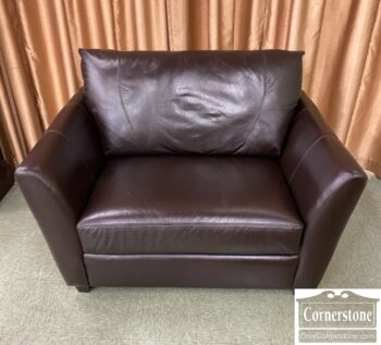 7784-1 - Alexander Julian Cont Leather Chair and Half