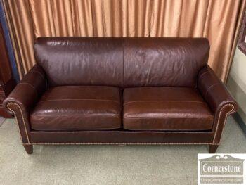 7784-17 - Flexsteel Brown Leather Sofa