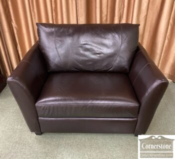 7784-3 - Alexander Julian Contem Leather Chair and Half
