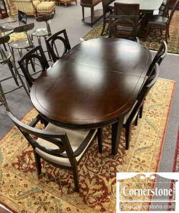 7784-7 - Contem Oval Tbl 1Lf 6 Chairs