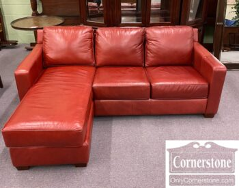 7786-1 - Thomasville Red Leather Sectional