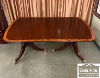 7788-2 - Banded Pedestal Table 2 Leaves