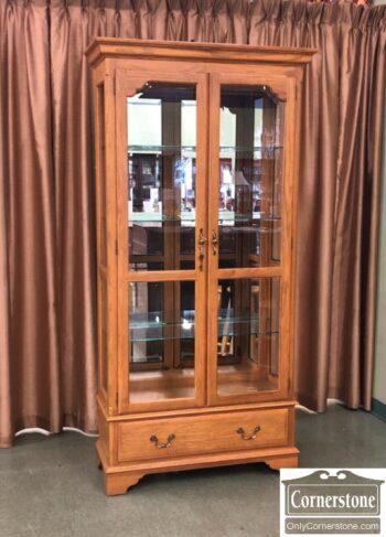7802-1 - EA Oak Curio China Cabinet
