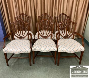 7818-1 - 6 Shield Back Dining Chairs