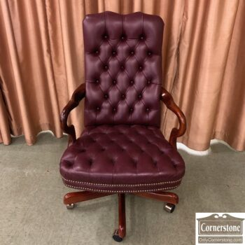7820-1 used Executive leather desk Chair