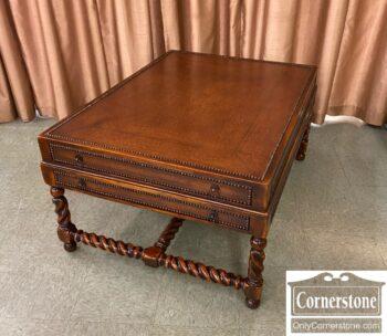 7820-11-Leather Coffee Table Nailhead Trim