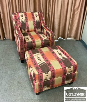 7820-13-Uph Chair and Ottoman Southwest