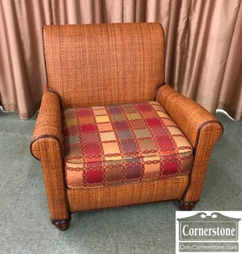 island style wicker club chair