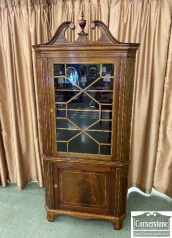 7821-1-Potthast Inlaid Corner Cabinet
