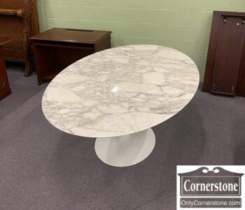 7827-1 - Knoll Eero Saarinen Oval Marble Tp Tulip Table