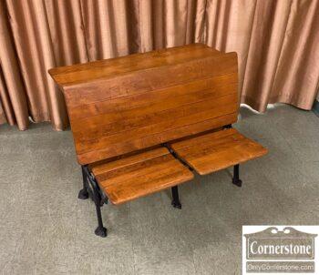 7853-16-Antique Double School Desk