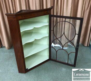 7853-7-Mah Antique Hanging Corner Cabinet