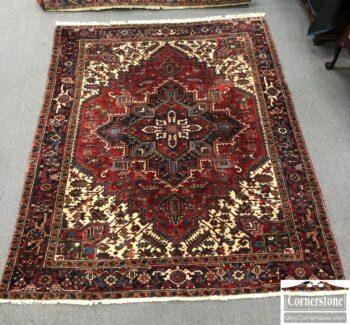 7853-75 - Heriz Hand Knotted Wool Room Sz Rug