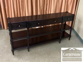7866-6-Hooker Contemp Black Console Table 4 Drw