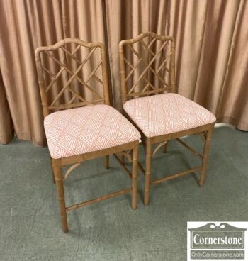7875-1-Pr Bamboo Style Counter Stools
