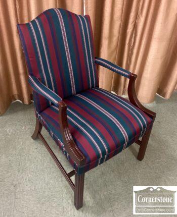 7905-1-Martha Wash Arm Chair Striped