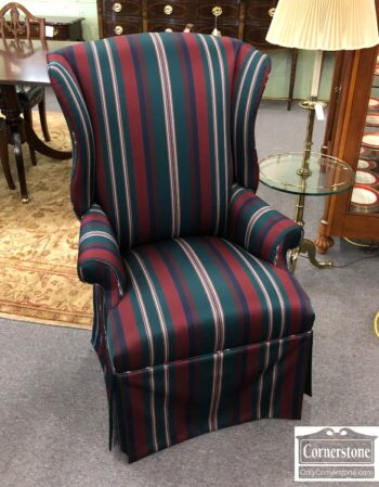7905-4-Striped Wing Chair
