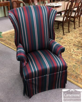 7905-5-Striped Wing Chair