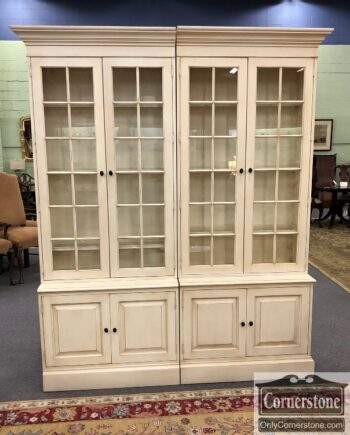 7905-6M-EA Off Wh Display Bookcase