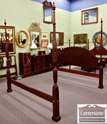 3959-1038 Henkel Harris Solid Mahogany King Poster Bed