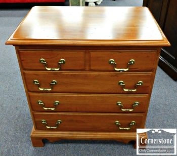 5966-48 Durham Solid Cherry Chippendale Bedside Chest