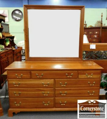 5966-49 Durham Solid Cherry Chippendale Dresser & Mirror