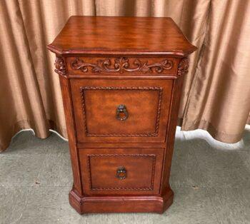 2 drawer wood file