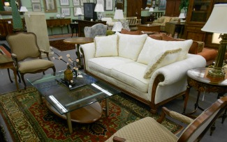 Ethan Allen White Sofa French Country Arms Chairs And More Great