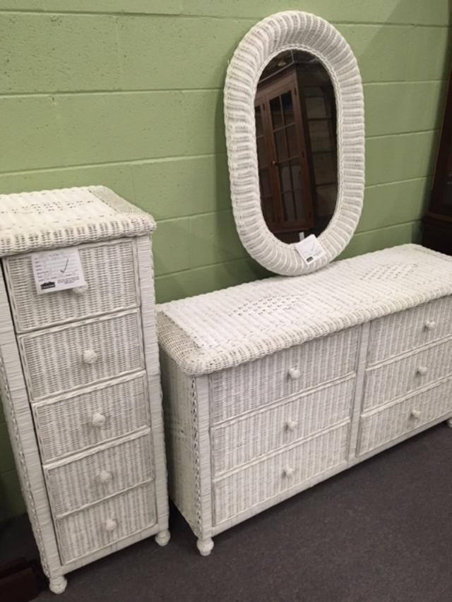 Maryland Furniture, White Wicker Bedroom Furniture Used