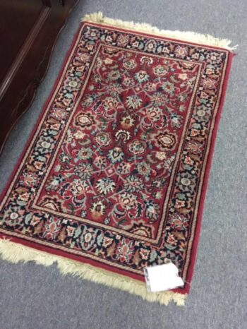 used rug, hand made used rug for sale, oriental rug consignment, consignment store rugs, used oriental rugs, blue used rug, red used rug, green wool rug