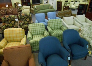 Brand New Sam Moore Club Chairs In Closeout And Discontinued Fabrics
